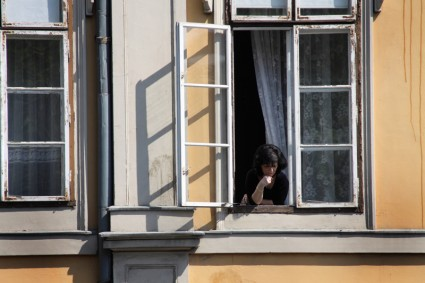 Budapest, Woman in window