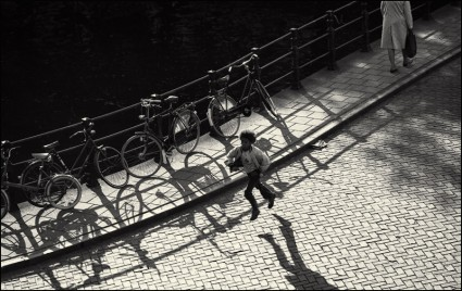 Amsterdam 1973 boy running