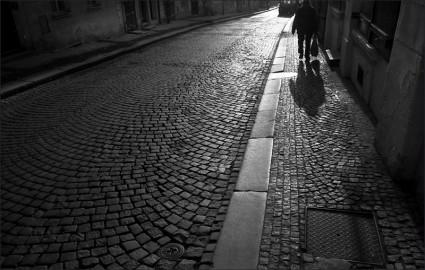 aact, 1998, Prague, dark street
