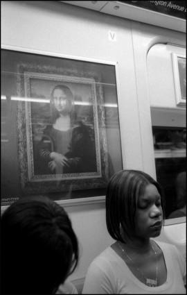aaft, 2007, NYC, Subway Mona Lisa