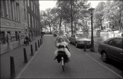 2002, Amsterdam, girl on bike